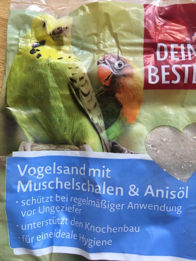 Tüte mit Vogelsand