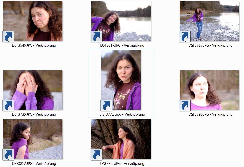 Mehrere Bilder von Judith - mit seltsamem Gesichtsausdruck und lustig