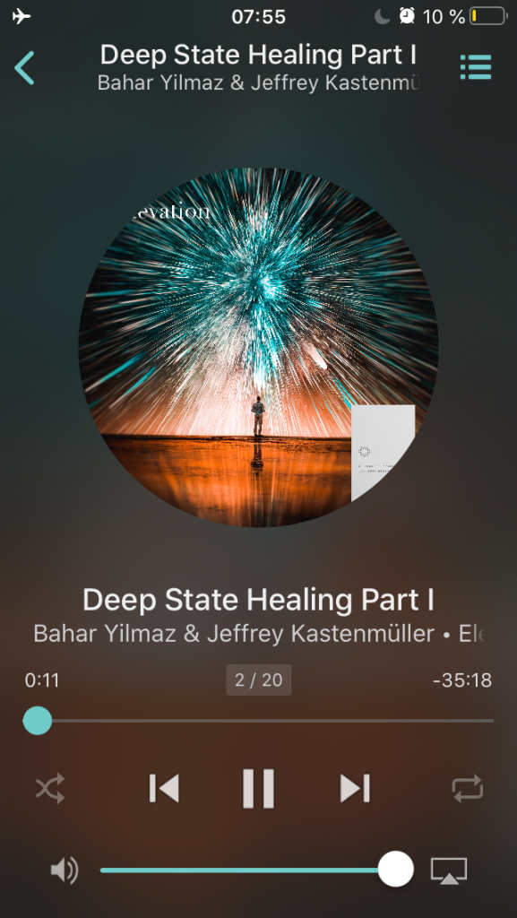 "Screenshot vom Handy - Musik ""Deep State Healing"""