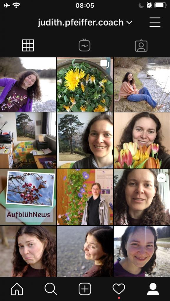 Screenshot von Instagram-Seite von Judith
