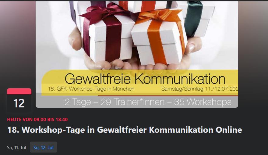 GFK-Workshoptage Online